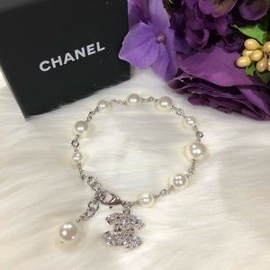 CHANEL Jewelry - 🛑 SOLD - Authentic Pearl Bracelet w/ Charm